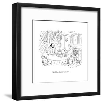 """""""Oh. Wow. Another sonnet."""" - New Yorker Cartoon-null-Framed Premium Giclee Print"""