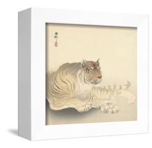 Resting Tiger and Matsuki Heikichi, C. 1900-30 by Ohara Koson