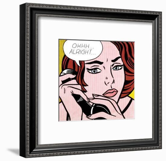 Ohhh...Alright..., 1964-Roy Lichtenstein-Framed Art Print
