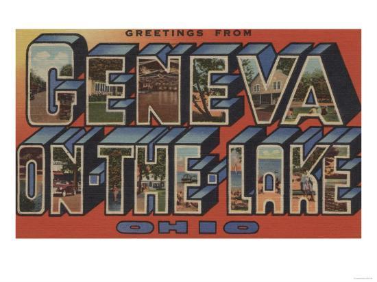 Ohio - Geneva-on-the-Lake-Lantern Press-Art Print