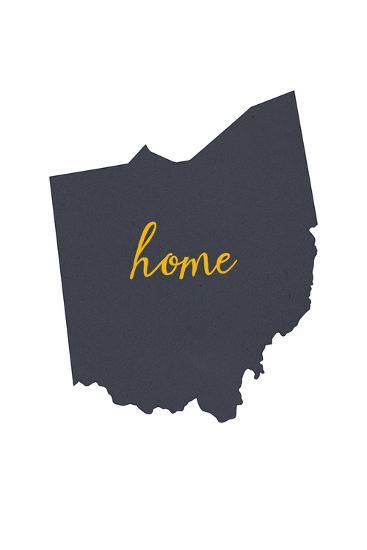 Ohio - Home State - White-Lantern Press-Art Print