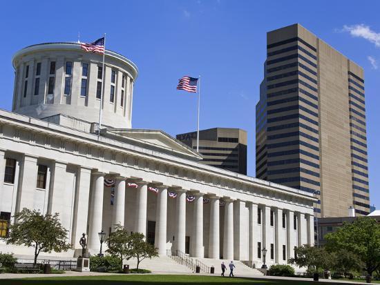 Ohio Statehouse, Columbus, Ohio, United States of America, North America-Richard Cummins-Photographic Print