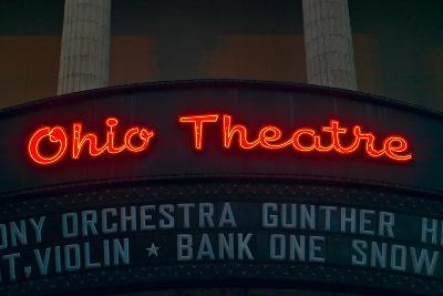 Ohio Theater marquee theater sign advertising Columbus Symphony Orchestra in downtown Columbus, OH--Photographic Print