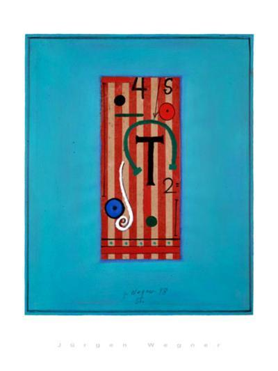 Ohne Titel,1998-J?rgen Wegner-Serigraph