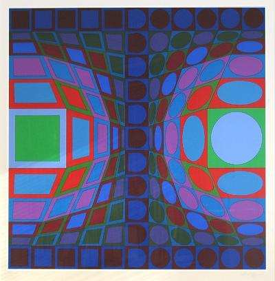 Ohne Titel LX-Victor Vasarely-Limited Edition