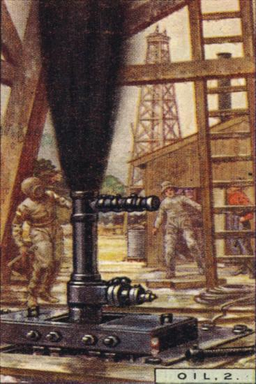 'Oil, 2. - Controlling a Gusher, U.S.A.', 1928-Unknown-Giclee Print