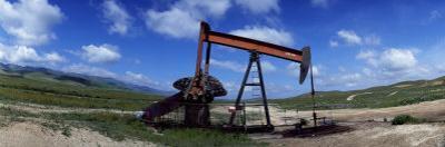 Oil Drill on a Landscape, Taft, Kern County, California, USA
