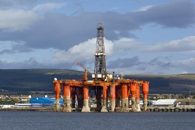Oil Drilling Rig, North Sea-Duncan Shaw-Photographic Print