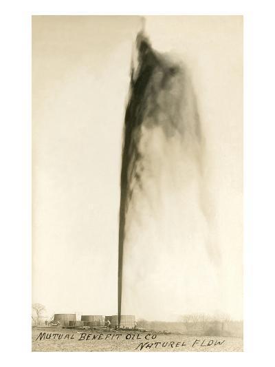 Oil Gusher--Art Print