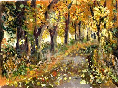 Oil Painting Forest-jim80-Art Print