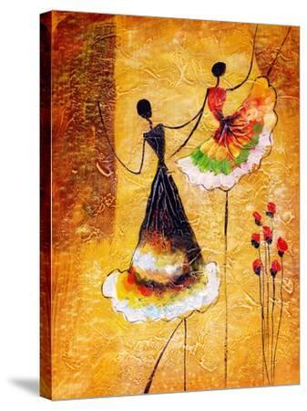 Oil Painting - Spanish Dance-CYC-Stretched Canvas Print