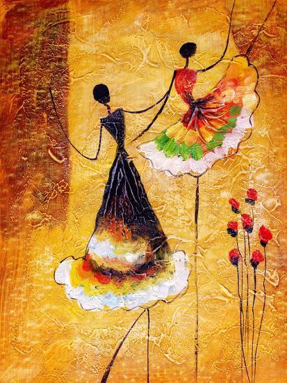 Oil Painting - Spanish Dance-CYC-Art Print