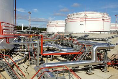 Oil Pipelines And Storage Tanks-Ria Novosti-Photographic Print