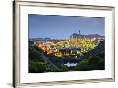 Oil Refineries in Wakayama, Japan.-SeanPavonePhoto-Framed Photographic Print