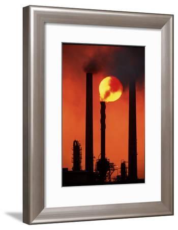 Oil Refinery-David Nunuk-Framed Photographic Print