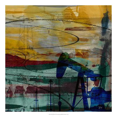 Oil Rig Abstract-Sisa Jasper-Giclee Print