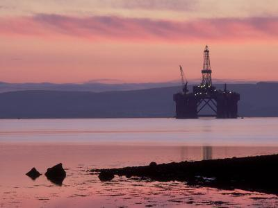 Oil Rig at Dawn, Ross-Shire, Scotland-Iain Sarjeant-Photographic Print