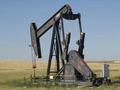 Oil Rig Pumps Oil from the Montana Ground-Joel Sartore-Photographic Print