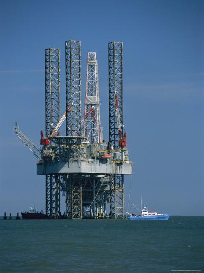 Oil Rig Under Construction-Raymond Gehman-Photographic Print