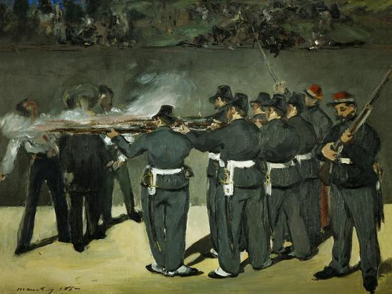 Oil Sketch for the Execution of Emperor Maximilian, 1867-Edouard Manet-Giclee Print