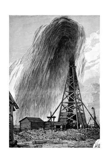 Oil Well, 19th Century-Science Photo Library-Giclee Print