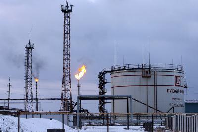 Oil Wells And Natural Gas Storage Tank-Ria Novosti-Photographic Print
