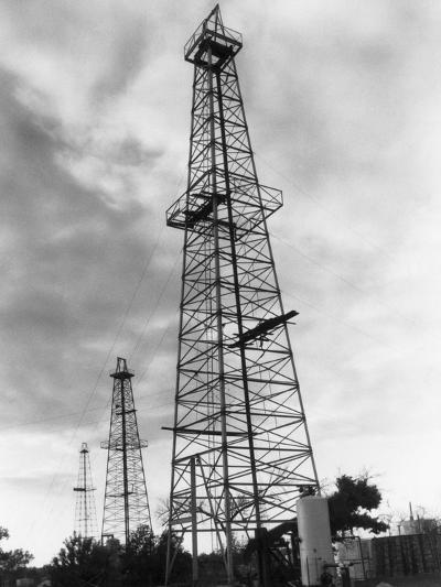 Oil Wells in Oklahoma-Philip Gendreau-Photographic Print