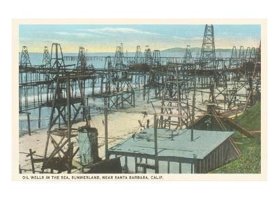 Oil Wells, Santa Barbara, California--Art Print