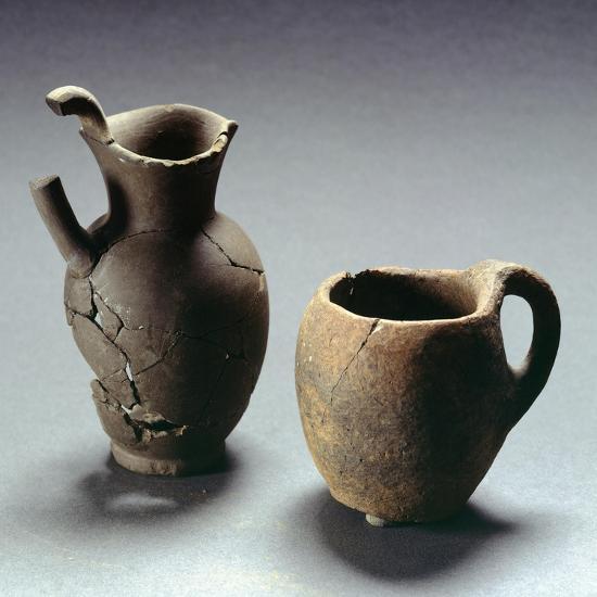 Oinochoe with Trefoil Lip and Mug, Lazio, Italy, Latin Civilization, 4th-3rd Century BC--Giclee Print