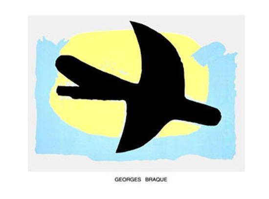 oiseau bleu et jaune art print by georges braque. Black Bedroom Furniture Sets. Home Design Ideas