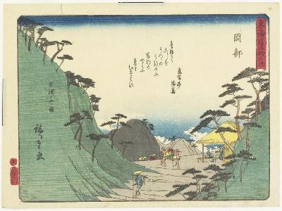 Okabe, 1837-1844-Utagawa Hiroshige-Giclee Print