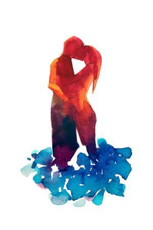 Loving Couple Silhouette by okalinichenko