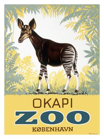 Okapi Copenhagen Zoo--Giclee Print