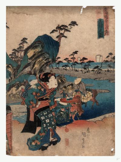 Okitsu No Zu-Utagawa Toyokuni-Giclee Print