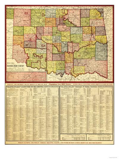 Oklahoma - Panoramic Map-Lantern Press-Art Print
