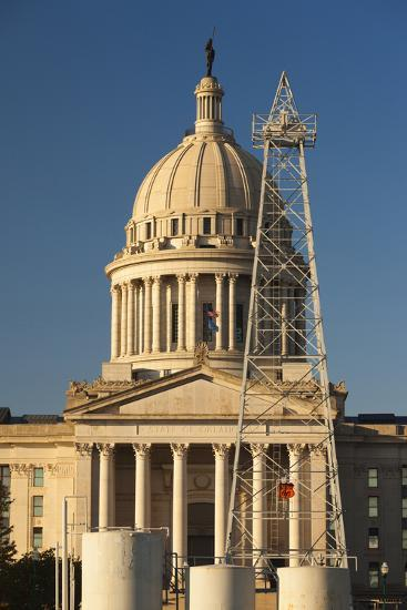 Oklahoma State Capitol Building, Oklahoma City, Oklahoma, USA-Walter Bibikow-Photographic Print