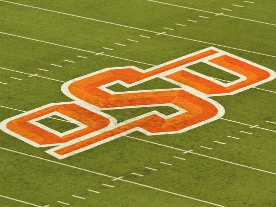 Oklahoma State University Osu Logo On The Field At Boone Pickens Stadium Photo By Art Com