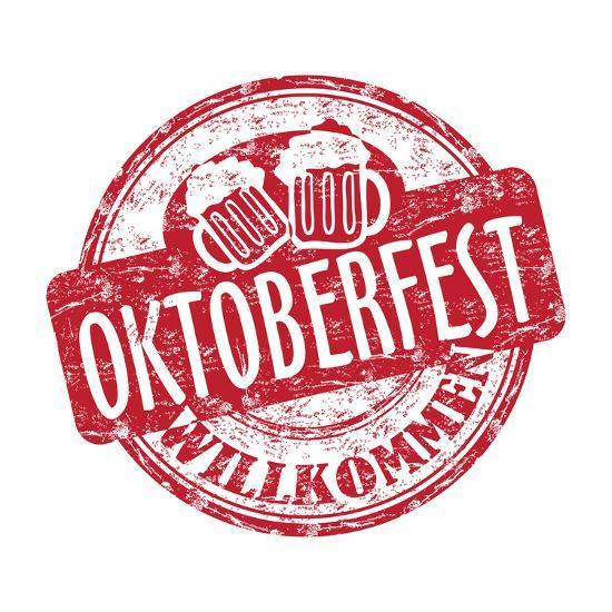 Oktoberfest Grunge Rubber Stamp-oxlock-Art Print