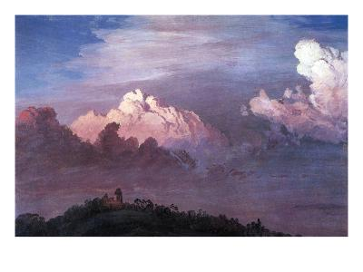 Olana in the Clouds-Frederic Edwin Church-Art Print