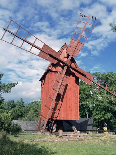 Oland Windmill, Skansen, Stockholm, Sweden-Peter Thompson-Photographic Print