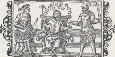 Three Gods of the Ancient Peoples of Northern Europe, Frigga Thor and Odin