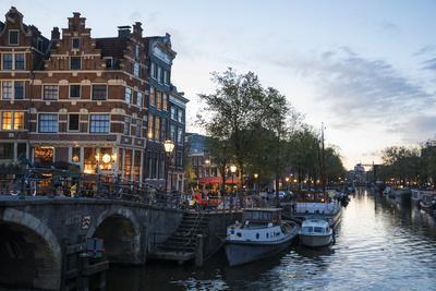 The Netherlands, Holland, Amsterdam, Prinsengracht corner Brouwersgracht