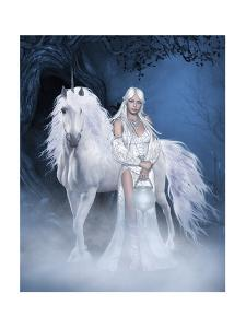 Unicorn And Beautiful Fairy by olbor