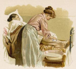 Old Age, Bedridden Bath