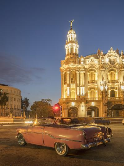 Old American Car, Havana, Cuba, West Indies, Caribbean, Central America-Angelo Cavalli-Photographic Print