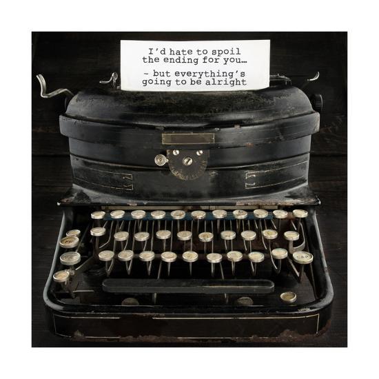 Old Antique Typewriter With Text-Anna-Mari West-Art Print