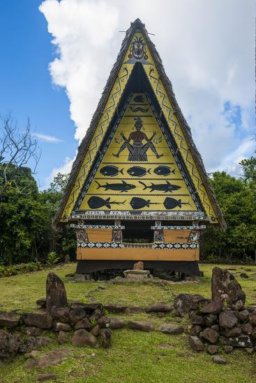 Old Bai, Chief's House the Island of Babeldaob, Palau, Central Pacific-Michael Runkel-Photographic Print