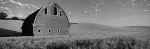 Old Barn in a Wheat Field, Palouse, Whitman County, Washington State, USA