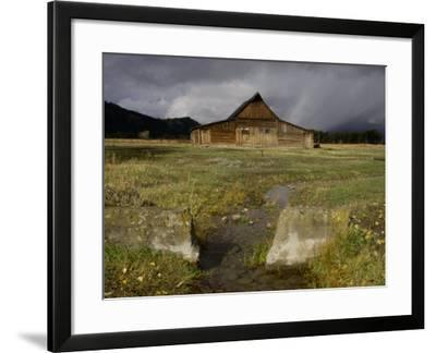 Old Barn in Antelope Flats, Grand Teton National Park, Wyoming, USA-Rolf Nussbaumer-Framed Photographic Print