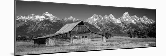 Old Barn on a Landscape, Grand Teton National Park, Wyoming, USA-null-Mounted Photographic Print